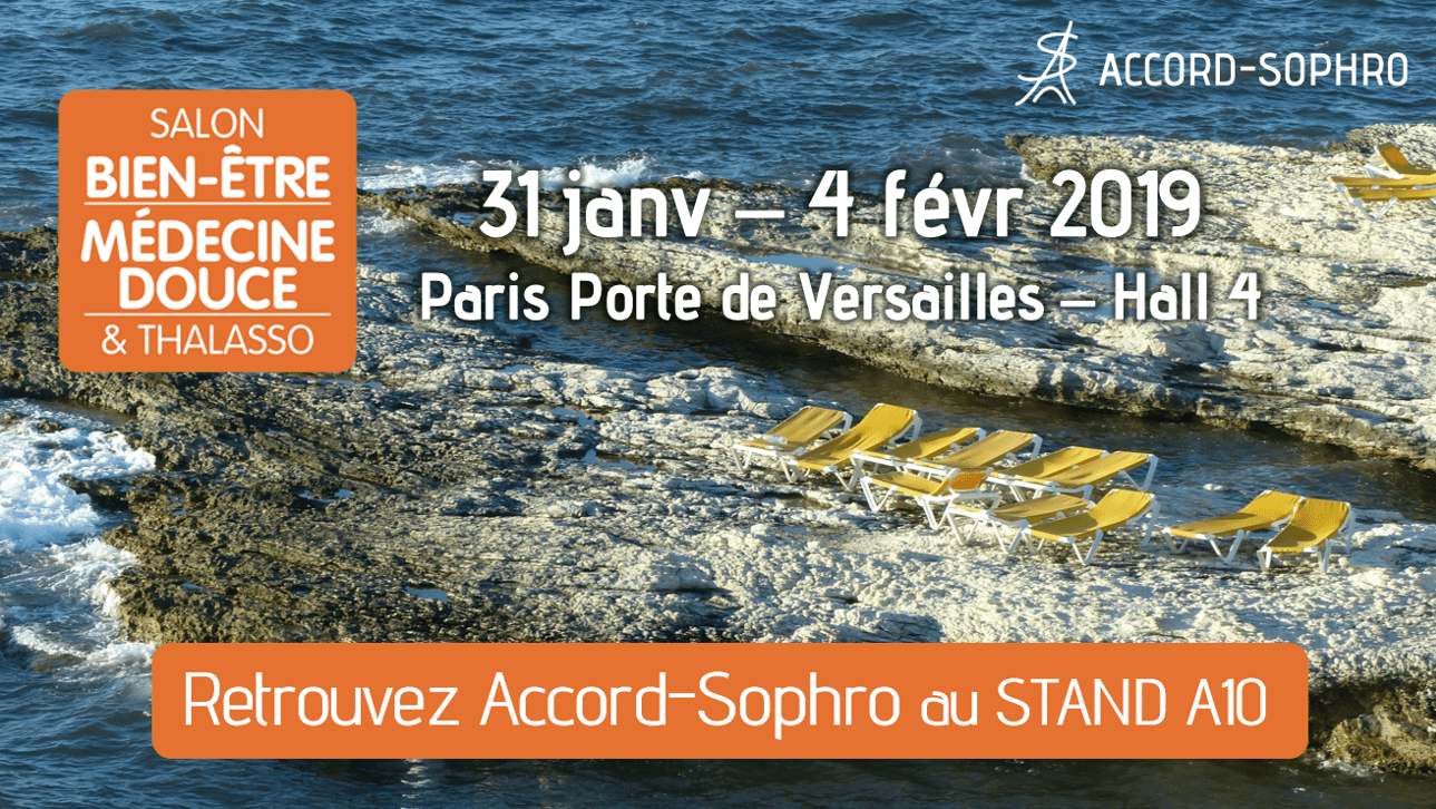 Stand Accord-Sophro au Salon bien-être et médecine douce de Paris