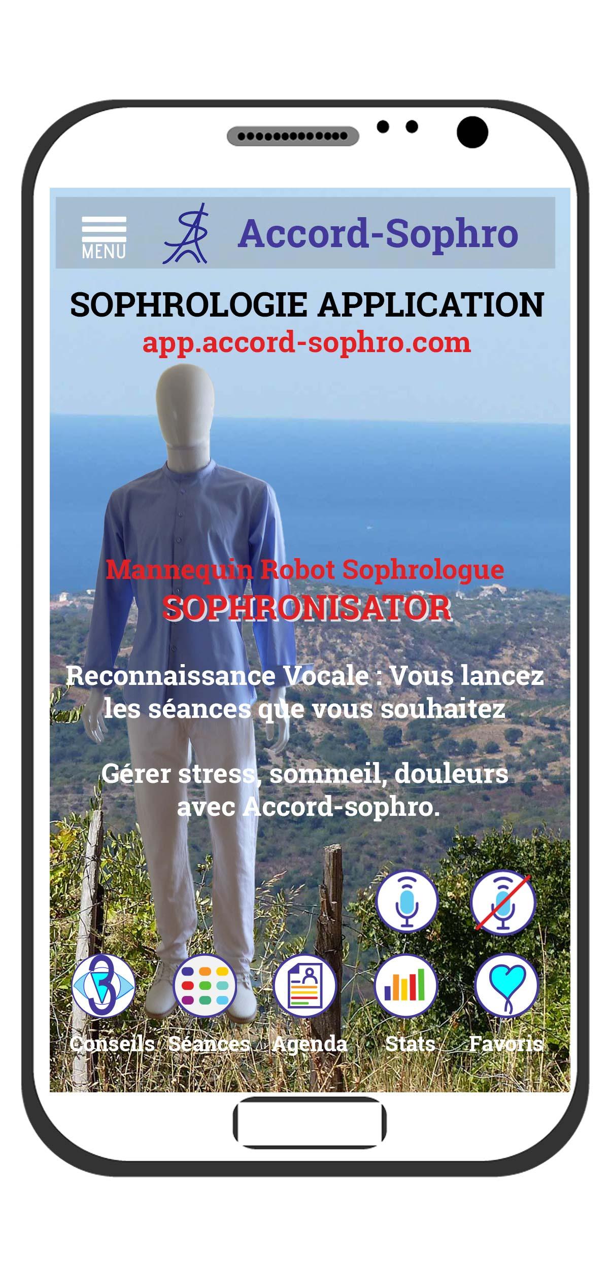 sophronisator, présentation au salon healcare du premier mannequin qui parle en sophrologie